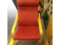 Red Poang IKEA Chair