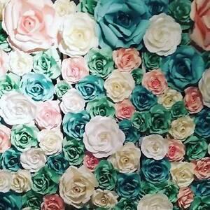 Paper Flower Wall Backdrop ♡ Little Miss Vintage Forrestfield Kalamunda Area Preview
