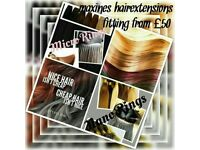Hair extensions supplied and fitted./also fitting only