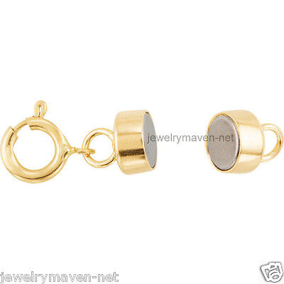 14k MAGNETIC CLASP Converter Yellow SOLID Gold Bracelet Necklace 4.5mm US made