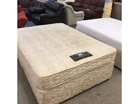 Sealy double divan bed (mattress and base)