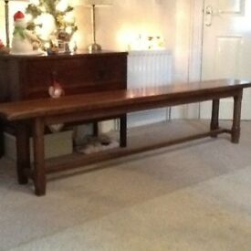 Pair of Antique solid oak french benches