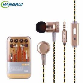 G63 metal bass Microphone Stereo Bass earphones for iPhone Samsung Huawei Xiaomi Sport earphones