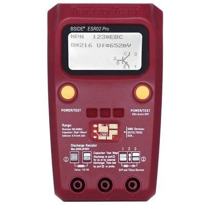 Digital Transistor Tester Capacitance Inductance Ohm Esr Smd Components Meter