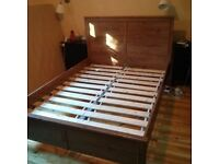 Ikea double bed frame. Can deliver