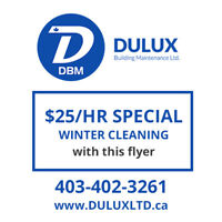 $25/HR HOME CLEANING WINTER SPECIALS