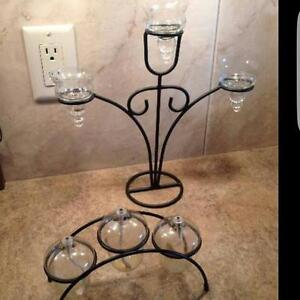 Tea Light Candle Stand & oil candle stand  Black metal stand