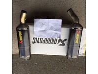 Akrapovic Full Carbon Race Cans with Removable Baffles