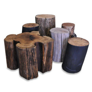 Reclaimed Wood Stump, Log Round Side Tables, Coffee Tables