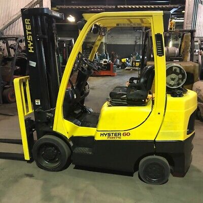 2013 Hyster S60ft 6000lbs Used Forklift W Triple Mast Sideshift Lp Gas