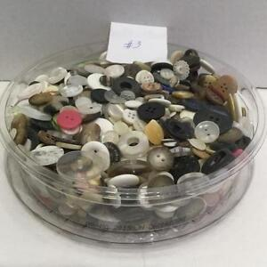 Lot 3 - One container of assorted buttons