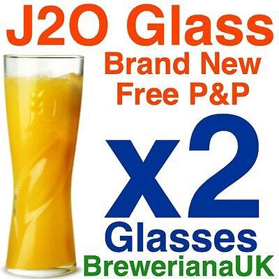 Set Of 2 J2O J20 12oz 340ml Glasses Brand New 100% Genuine Official