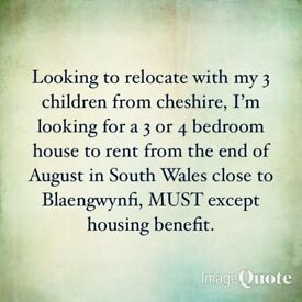 URGENTLY NEED 3-4 BEDROOM HOUSE IDEALLY BEFORE THE NEW SCHOOL TERM STARTS IN SEPTEMBER