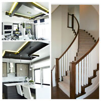 Interior Railing and Woodwork installations