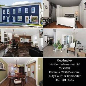 Quadruplex Résidentiel-Commercial Valleyfield MLS: 24590991