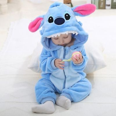 Baby Costume For Kids (Baby Unisex Romper Cosplay Costume Pajamas For Kids LILO STITCH 2-3)