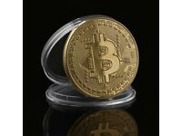 Gold & Silver Bitcoin Souvenir Coins Wholesale Lot - Brand New 95pcs