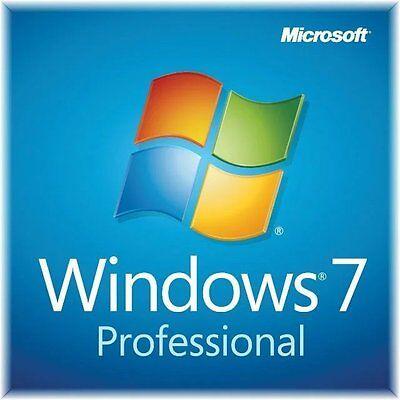 Microsoft Windows 7 Professional 32/64bit Genuine License Key Product Code