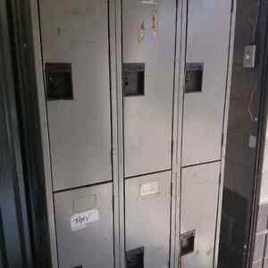 Vintage Lockers 6- Great for storage in garage or man cave