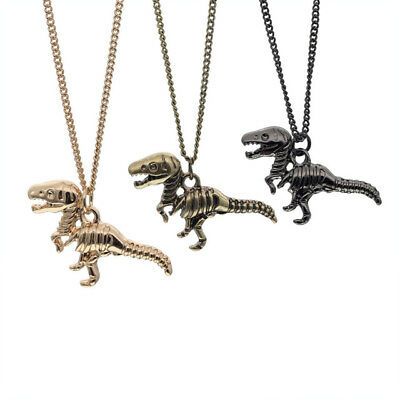 Small Charm Necklace (T-Rex Raptor Dinosaur Bones Skeleton Necklace, Small Charm, Jewelry Goth Punk)