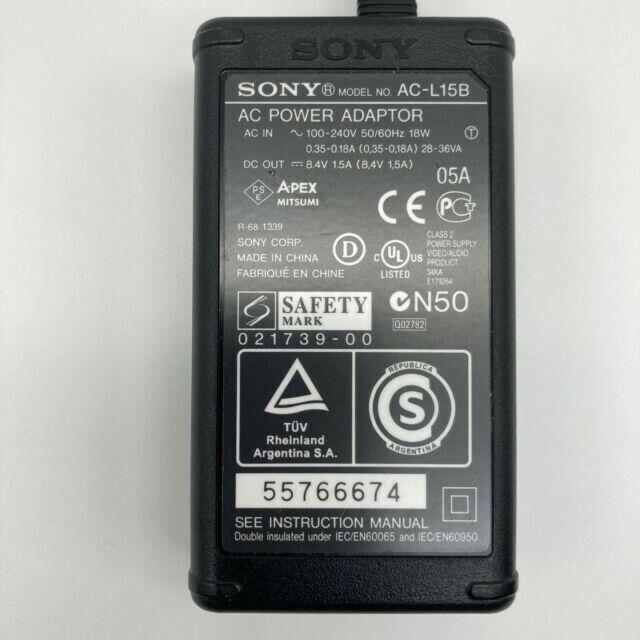 Genuine Sony AC-L15B AC Power Adapter For Handycam AC-L10A/B AC-L15A/B OEM - $9.00