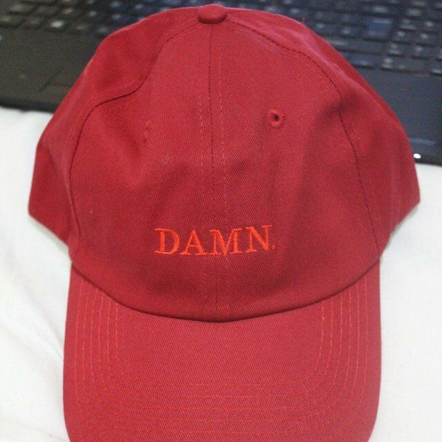 42243f55 New Kendrick Lamar Damn Red Burgundy Tour Merch TDE Top Dawg Entertainment  Hat Cap Dad Strapback
