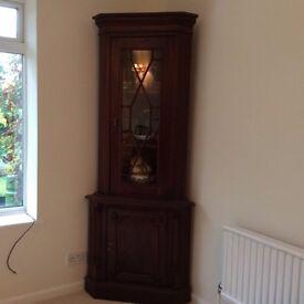 repro corner display cupboard