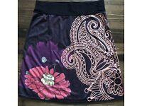 Flowery Desigual style Pacae Size S Midi Skirt