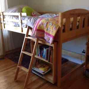 Loft Bed Kid's Child's Made of Solid Wood for Girl or Boy