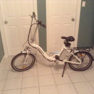Beautiful electric adult folding bicycle