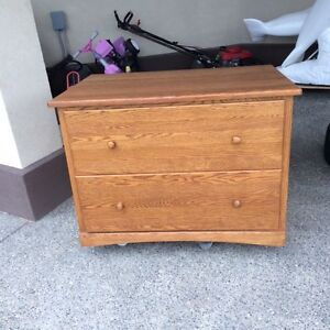 Solid Oak File Cabinet Excellent Condition
