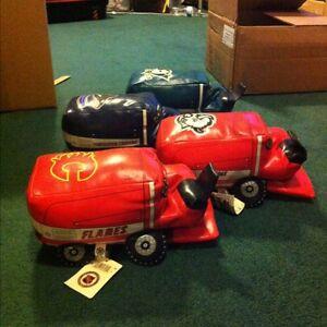 4 NHL stuffed Zamboni
