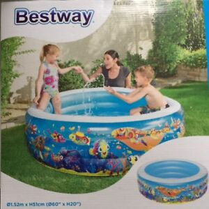 Piscine gonflable pour enfants // inflatable swimming pool