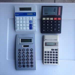 4 x Calculators - all working