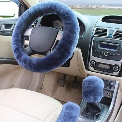 (3 Pcs Steering Wheel Cover For Women Sets Winter Warmer Accessories Car-styling)