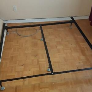 queen size iron bed frame