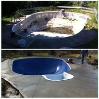 POOL RESTORATIONS, INSTALLATIONS & CONCRETE.