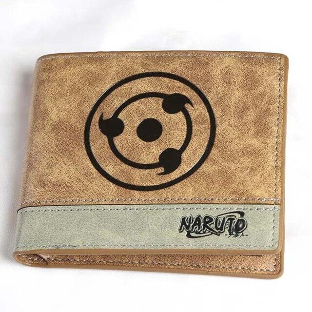 Anime Naruto Sharingan Cosplay PU Leather Wallet Mixed Color Bifold Purse