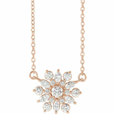Diamond Vintage-Inspired Necklace In 14K Rose Gold (1/2 ct. tw.)