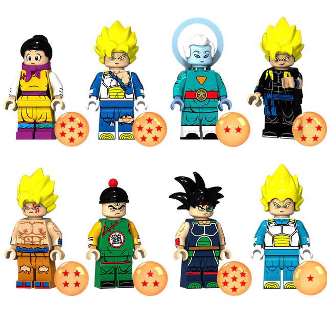 Count:8pcs-6:32pcs Dragon Ball Z Action Figure Super Goku Building Blocks For Lego Toy Heroes