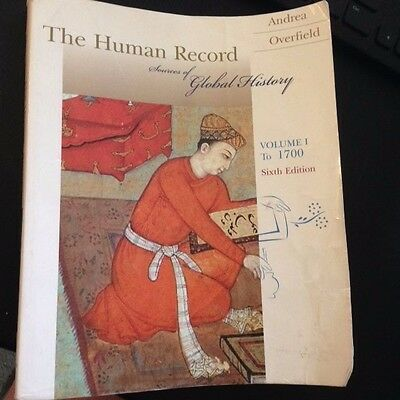 The Human Record Sources Of Global History Volmme I   To 1700    Sixth Edition