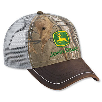 JOHN DEERE *REALTREE XTRA CAMO* MESH *WEEKEND* TRADEMARK Twill HAT CAP *NEW* C7
