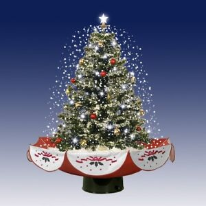 "68"" Snowing Musical Christmas Tree with LED Lights"