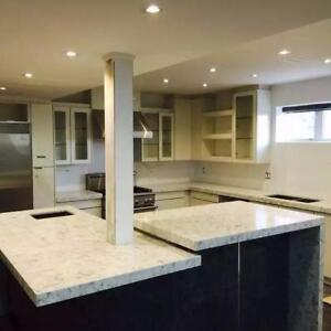 Kitchen countertop starts from $40/sqft on most popular granite and quartz colors
