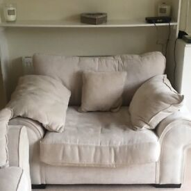 SCS Sofa and Matching Chair For Sale