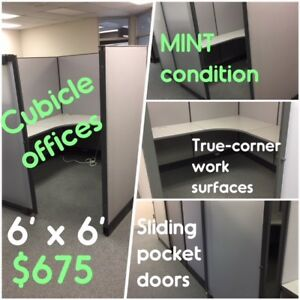 USED OFFICE CUBICLE WORK STATIONS, EXCELLENT CONDITION