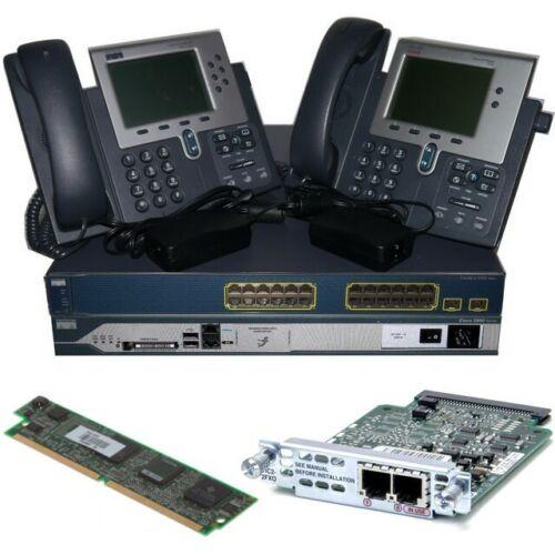 Cisco CCNA Voice Collaboration Lab Kit 2811 CME + FXO Card + 3560 (PoE) 2 x 7940