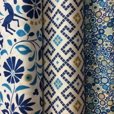 Lewis and Irene 'Lindos' Collection 100% Cotton fabrics by the half metre