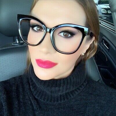 Oversized XXL Square CAT EYE Large Clear Lens Women Eyeglasses Fashion Frames XL - Cat Eye Glasses Frames