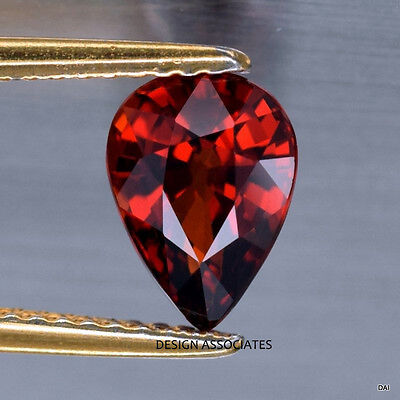 14X9 MM PEAR CUT NATURAL RED GARNET VVS